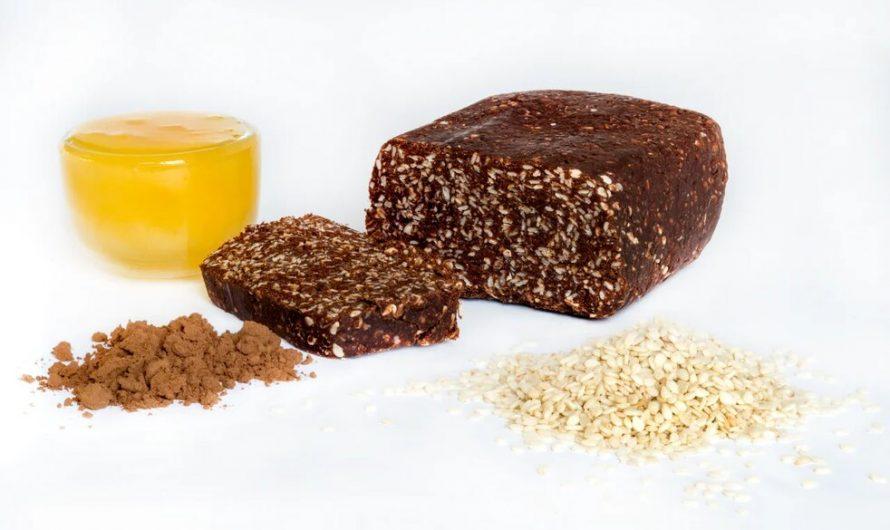 Шоколадно-кунжутная халва с какао